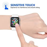 Amoner 2-Pack Apple Watch Screen Protector,Tempered Glass Screen Protector[Anti-scratch] [Bubble-free] for Apple Watch 42 mm Clear HD Anti-Bubble Film from Amoner