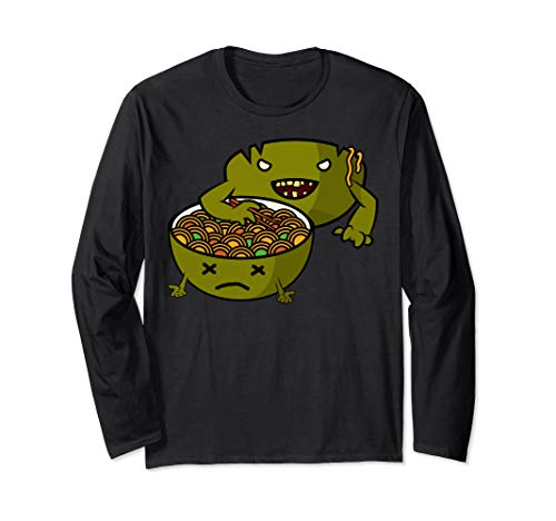 (Zombie Ramen Funny Anime Noodle Bowl Long Sleeve)