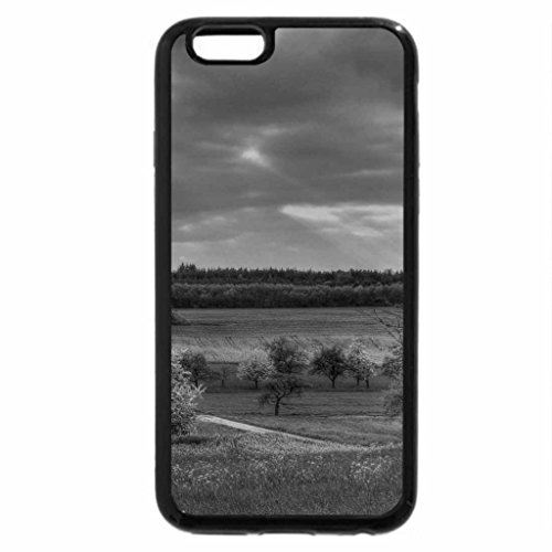 iPhone 6S Plus Case, iPhone 6 Plus Case (Black & White) - sun beams down on a lovely german farm
