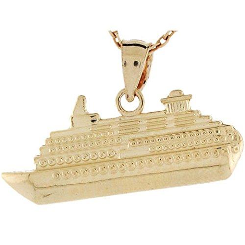 14k Gold Travel Charm - 3