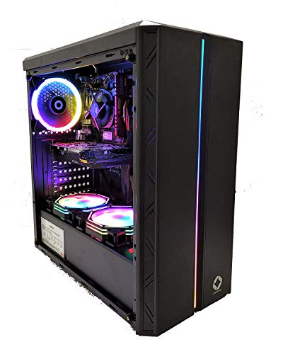 CHIST Gaming PC i5 9th gen 6 core – Upto 4.10 Ghz, 8GB DDR4, DDR5 GT 710 2GB 120GB SSD, 1TB HDD, Gaming PC with 3 Rainbow Color Cooling Fans