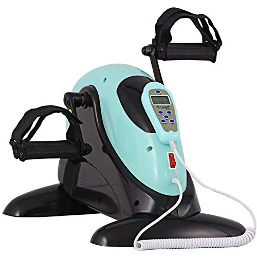 FHS Electric Mini Exercise Bike Pedal Exerciser Under Desk Elliptical BikeArm and Leg Cycle Exercise Bike with LCD Display Cycling Trainer Without Resistance