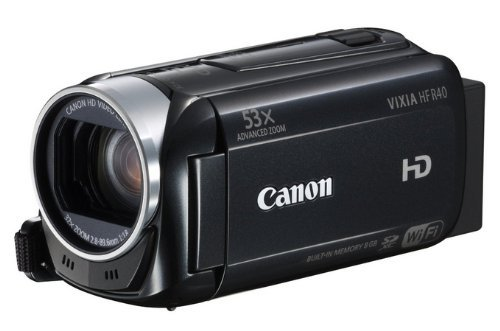 Canon Vixia Hf R40 Hd 53X Image Stabilized Optical Zoom Camcorder 8 Gb Internal Drive Sdxc Card Slot And 3.0 Touch Lcd (Certified Refurbished)
