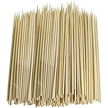 Party Propz Bamboo Skewer Stick, Brown (100 Pieces, 8-inch)