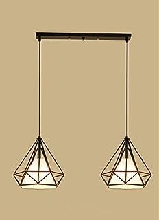 Sparkling FRD Diamante de pasillo de personalidad simple hierro Vintage creativo restaurante nórdico bar la araña