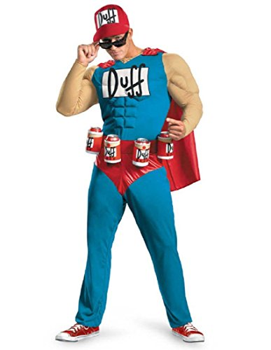 Disguise Unisex Adult Classic Muscle Duffman, Multi, XX-Large (50-52) Costume ()