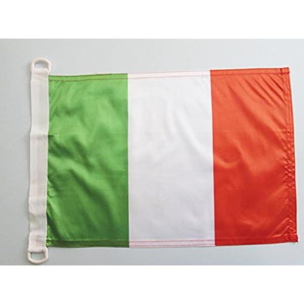 AZ FLAG Bandera Nautica de Italia 45x30cm - Pabellón de conveniencia Italiana 30 x 45 cm Anillos: Amazon.es: Jardín