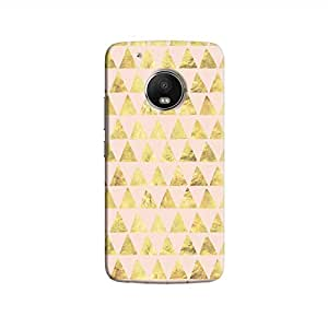 Cover It Up - Gold Pink Triangle Tile Moto G5 Hard Case