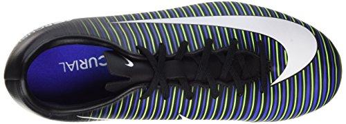 Nike Jr. Mercurial Vapor XI FG Kinder Fußballschuhe Mehrfarbig (Black/Wht-Elctrc GRN-Prmnt Bl)