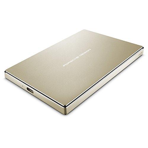 LaCie Porsche Design 2TB USB-C Mobile Hard Drive, Gold (STFD2000403)