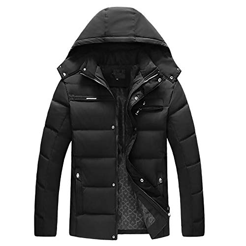 UOFOCO Casual Warm Zip Coat for Men Boys Stand Collar Slim Jacket Winter Outwear Tops Blouse