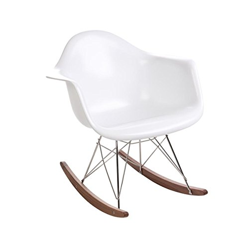Design Tree Home Eames Mid Century Modern RAR Rocker, White