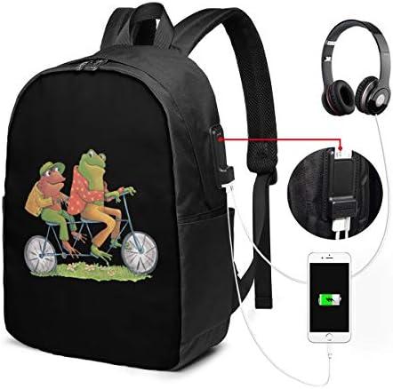 ビジネスリュック Frog And Toad ふたりはいっしょ メンズバックパック 手提げ リュック バックパックリュック 通勤 出張 大容量 イヤホンポート USB充電ポート付き 防水 PC収納 通勤 出張 旅行 通学 男女兼用