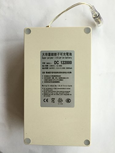 ABENIC Super Polymer Rechargeable 20000mAh Lithium-ion Battery DC 12V ,DC122000 Grey