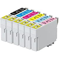 6-Pack Generic High Yield Ink Cartridges Compatible with Epson 81N Series [1BK,1C,1M,1Y,1LC,1LM]