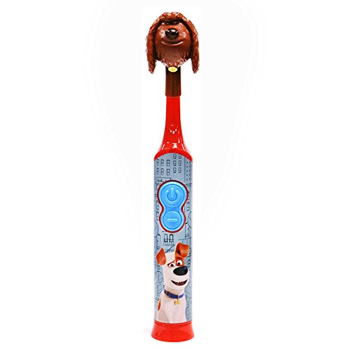 Firefly Power Protect Battery Toothbrush with Antibacterial Character Cap, Secret Life of Pets