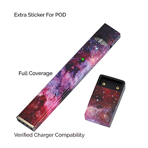 Price comparison product image Vensens JUUL Skin Wrap Sticker Decal for JUUL Wraps Vape 1Pack+1Pack Juul Charger Full Reusable 3M Protective Sticker Cover (JUUL and charger not included, Skin only) (sky colorful)