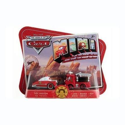 Cars Movie Radiator Springs - Disney / Pixar CARS Movie Toy Mini Adventures Radiator Springs Fire Deptartment Doc Hudson & Red