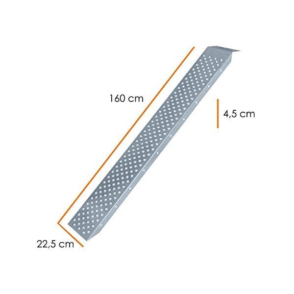 41NDJEin3%2BL MASKO® 2X Auffahrrampe 400kg   Verladerampe   Verladeschiene   verzinkter Stahl   Antirutsch   200kg* Pro Stück   Max…