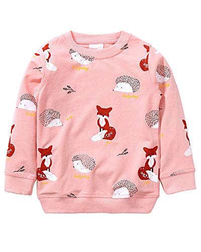 Girls Sweatshirt for Kids Cotton Top Casual Jumper Girl T Shirt Toddler Clothes Long Sleeve Pullover Winter Spring Age 2-8 Years