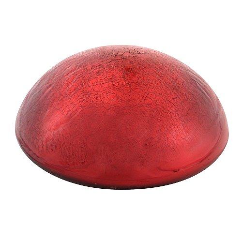 Achla Designs Glass Toadstool Mushroom Gazing Ball, Red -