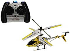 """This Brand New 3 Channel Gyro mini Metal rc helicopter is 1 of the world's newest, smallest and lightest RC Helicopter you can get! At approx. 7.5"""" long, it easily fits in the palm of your hand and is fully functional, equipped with latest Gy..."""