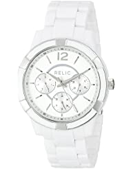 Relic Womens Payton White Acetate Watch ZR15699
