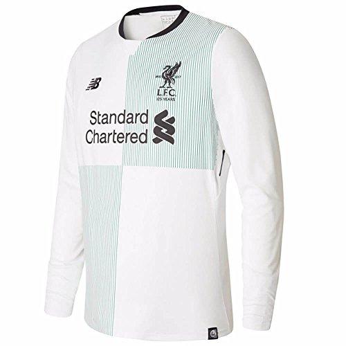 - New Balance 2017-2018 Liverpool Away Long Sleeve Football Soccer T-Shirt Jersey (Kids)