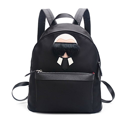 water-proof-fiber-fox-fur-glasses-cartoon-handbag-backpack-satchel-large-size