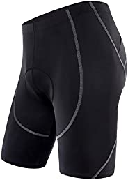 Sportneer Men's Cycling Shorts Biking Bike Bicycle Pants Half Pants 4D Coolmax Padded, Comfort, Anti-Slip