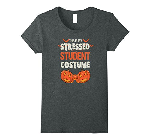Womens This is my Funny Stressed Student Costume T Shirt Medium Dark Heather - Cheap And Easy Halloween Costumes For College Students