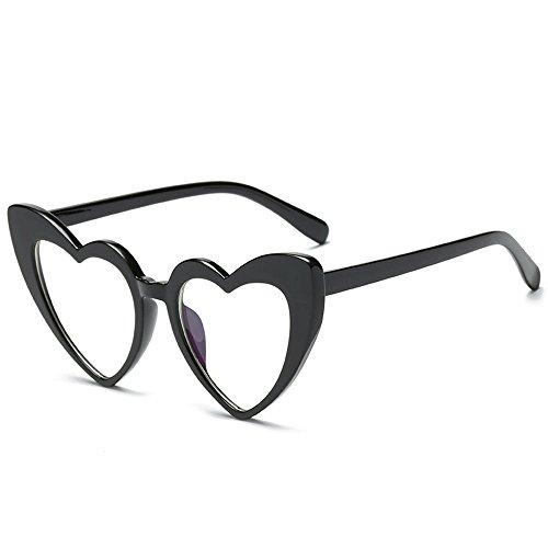 attachmenttou forma corazón las libre en sol 7 moda Gafas de aire de PC de al Gafas mujeres de de sol r7qvwrA