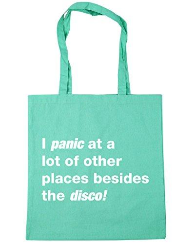 HippoWarehouse i panik at viele of orte besides die disco Einkaufstasche Fitnessstudio Strandtasche 42cm x38cm, 10 liter - Damen, Mintgrün, One size