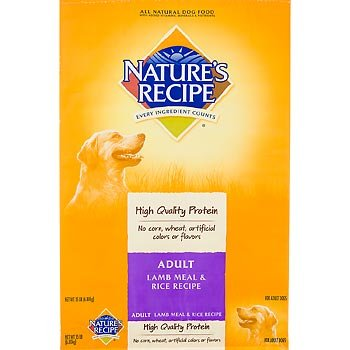 Nature's Recipe Dry Dog Food for Adult Dog, Lamb and Rice Meal, 15 Pound Bag, My Pet Supplies