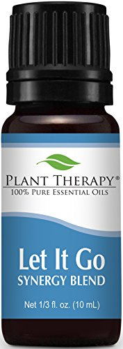 Plant Therapy Let It Go Synergy Essential Oil Blend. 100% Pure, Undiluted, Therapeutic Grade. Blend of: Tangerine, Orange, Ylang Ylang, Patchouli and Blue Tansy. 10 ml (1/3 oz).