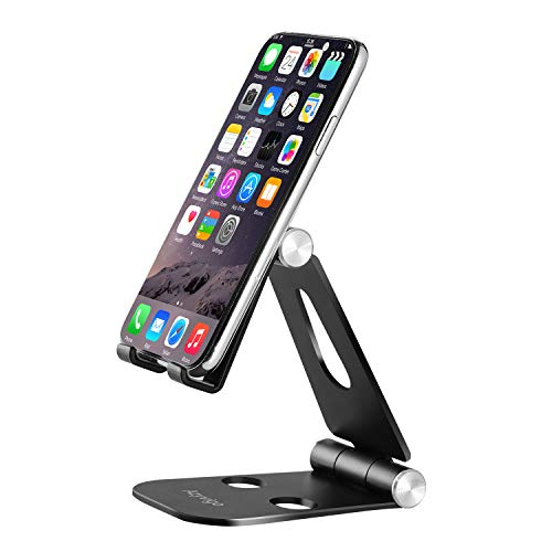 Azyvigo Multi-Angle Stand for Cell Phone, Desk Stand Mount for Nintendo Switch, iPhone X 8 7 6 6s Plus 5 5s 5c, Samsung, Galaxy, Android Smartphones, Tablets, Universal Phone Holder-Black