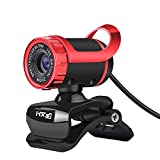 BAIYI HD Camera, USB Camera, Built-in Sound Absorbing Microphone, Can take Pictures, Support Windows XP / win2003 / win7 / win8 / Vista 32bit,Red