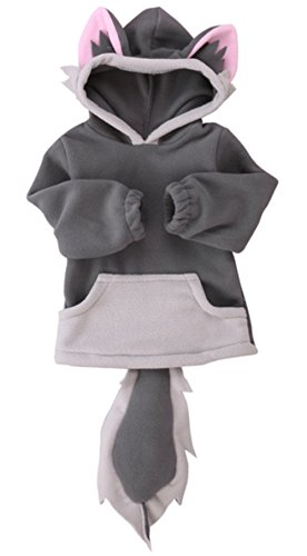 stylesilove Unisex Baby Cute Cartoon Animal Hooded Costume Outfit (110/3-4 Years, Grey Wolf)