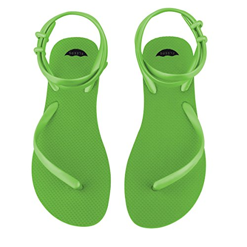 In Flops Strap Flip Women Sandals FLEEPS Handmade With or Flops Sandals Beach Rica Sandal Comfortable Gladiator Ankle Summer Lime Insanely Perfect s Wedding Costa Flip Green Sandals wBqaqd0SOx