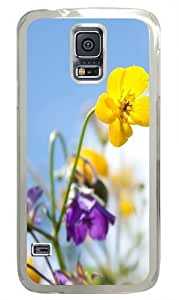 Flowers In The Sunlight Polycarbonate Hard Case Cover for Samsung S5/Samsung Galaxy S5 Transparent