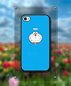 Cartoon Doraemon Funda Case For Iphone 4s, Personalized + Cool Lovely Design Drop Proof Tough Hard Compatible with Iphone 4 / 4s