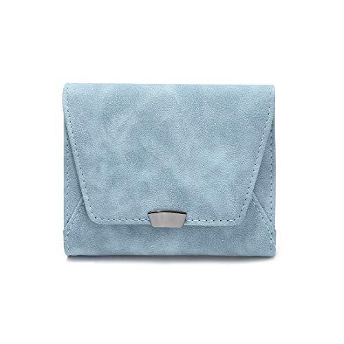 short women's wallet mini thin wallet ladies wallets small wallets for women (Light Blue)