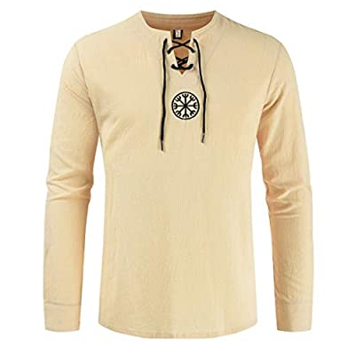 WINJUD Men's Sweatshirts Fashion Cotton Linen Solid Jumpers Long Sleeve Drawsting Shirts Tops Blouses: Clothing