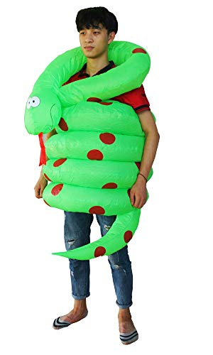 Seasonblow Inflatable Snake Costume Adult Halloween Costumes Suit for Mens & Womens for $<!--$29.99-->