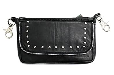 Hugger Glove Company Daytona Hip Hugger Leather Purse (Black)