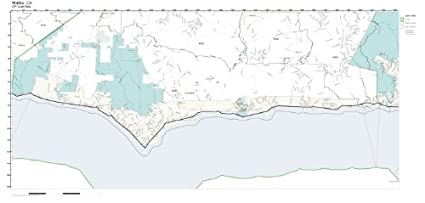 Malibu Zip Code Map.Amazon Com Zip Code Wall Map Of Malibu Ca Zip Code Map Not