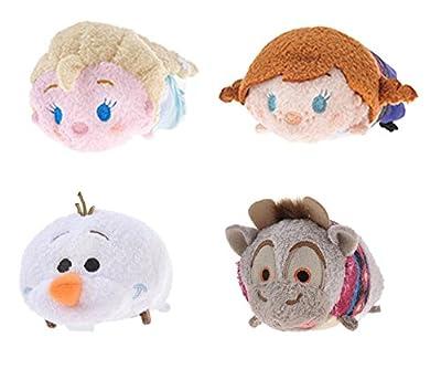 Disney Frozen Mini Tsum Tsum Plush Toy Set of 4 Elsa, Anna, Olaf and Sven for Sale