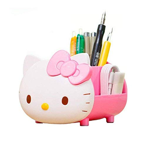 YOURNELO Pretty Multifunctional Hello Kitty Pen Pencil Holder Desk Organizer Accessories