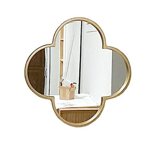 Espejo de baño, Pared cuelgan salón Espejo Decorativo, Espejo de Cuerpo Entero, Espejo de Hierro Forjado