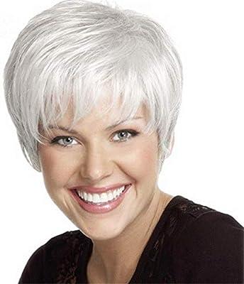 ELIM Short Pixie Cut Wigs for White Women